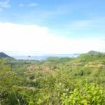 Pantai Selong Belanak dilihat dari salah satu bukit